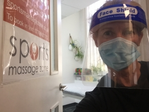 Sports massage with PPE